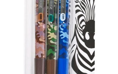 You won't blend in with our Camouflage Z-Grip ball pens